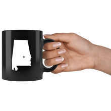 Load image into Gallery viewer, Alabama Coffee Mug - Black 11oz. - AL - MissionMint