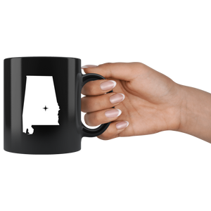 Alabama Coffee Mug - Black 11oz. - AL - MissionMint