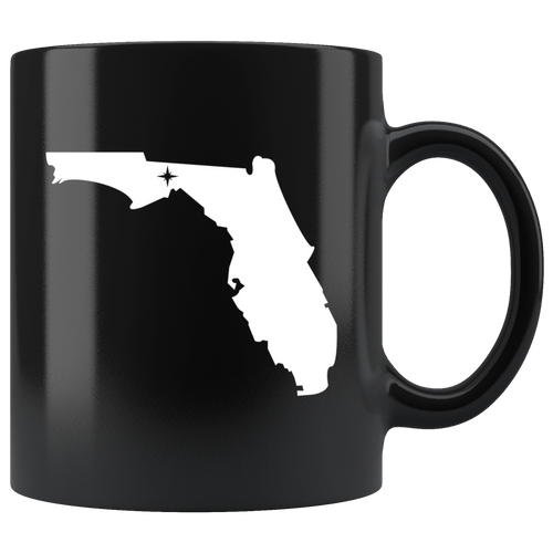 Florida Coffee Mug - Black 11oz. - FL - MissionMint