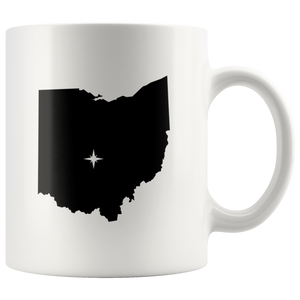 Ohio Coffee Mug - White 11oz - OH - MissionMint