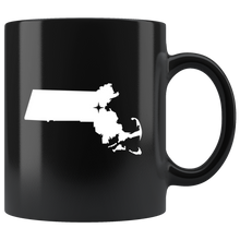 Load image into Gallery viewer, Massachusetts Coffee Mug - Black 11oz. - MA - MissionMint