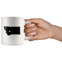 Load image into Gallery viewer, Montana Coffee Mug - White 11oz - MT - MissionMint