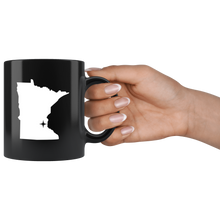 Load image into Gallery viewer, Minnesota Coffee Mug - Black 11oz. - MN - MissionMint