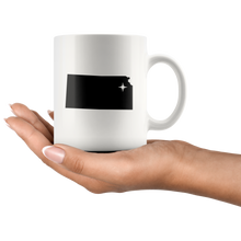 Load image into Gallery viewer, Kansas Coffee Mug - White 11oz - KS - MissionMint