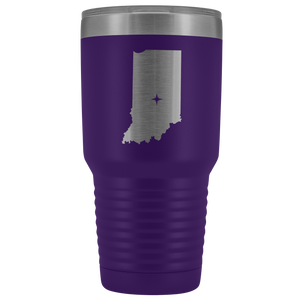 Indiana Tumbler Travel Map Adoption Moving Gift - 30oz - MissionMint