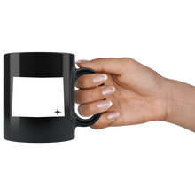 Load image into Gallery viewer, Wyoming Coffee Mug - Black 11oz. - WY - MissionMint