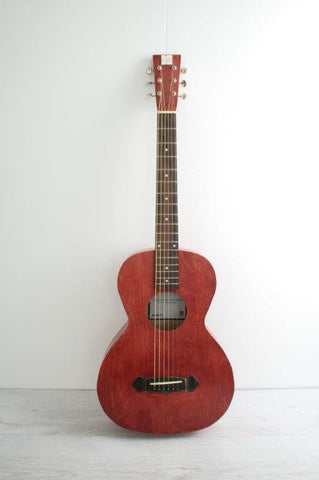 Parlour Guitar Crossroads Red