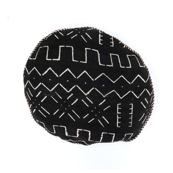 Round Mud Cloth Pillow
