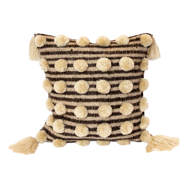 Stripe Pom Pom Pillow