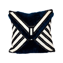 Cobalt Milian Square Recycled Square Pillow