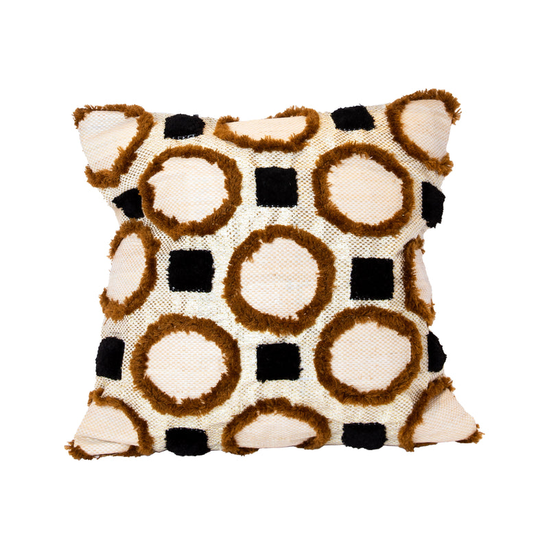 Beige & Browns Recycled Square Pillow