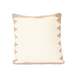 Tan Mixteca Square Wool Pillow