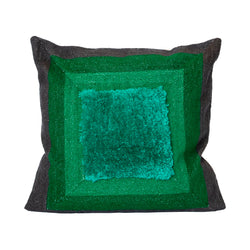 Alber's Greens & Greys Recycled Square Pillow
