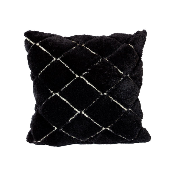 Charcoal Beni Ourain Recycled Square Pillow