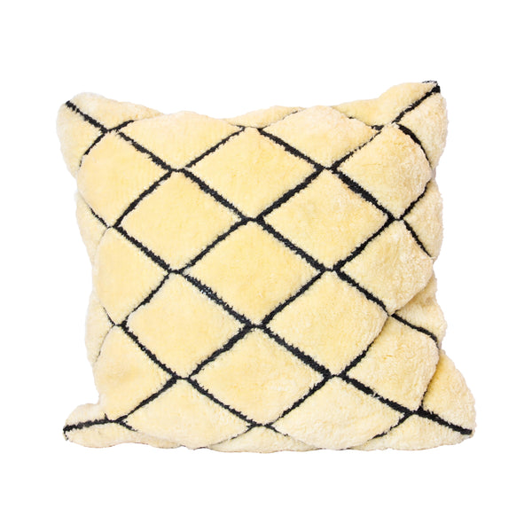 Cream Beni Ourain Recycled Square Pillow