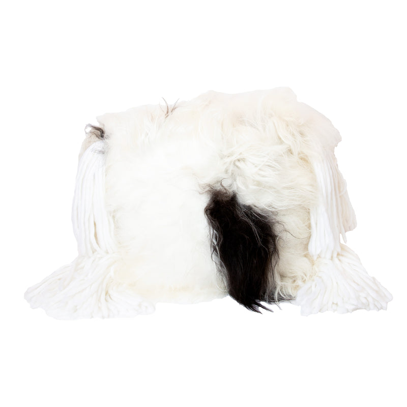 Neutral Sheepskin Square Pillow