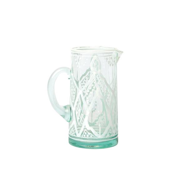 Anse Zwak White Glass Jug