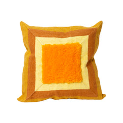 Alber's Mustard Recycled Square Pillow