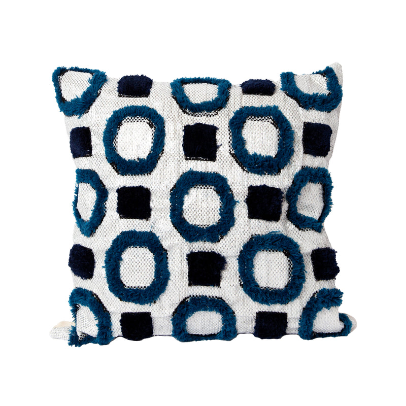 Dark Cobalt Recycled Square Pillow