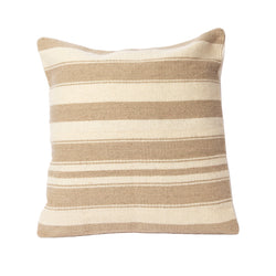 Tan Trayecto Square Wool Pillow