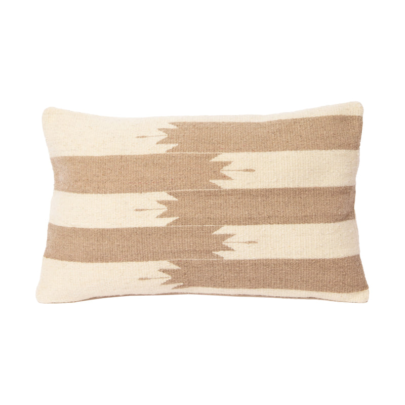 Tan Navajo Lumbar  Wool Pillow