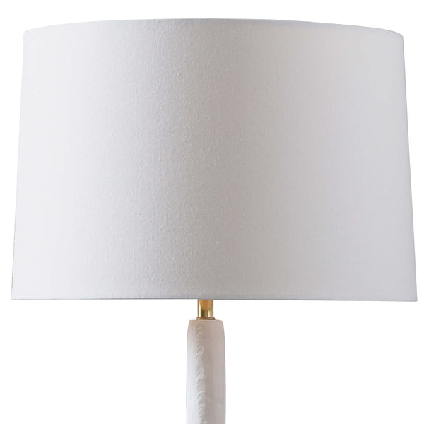 Stacked White Table Lamp