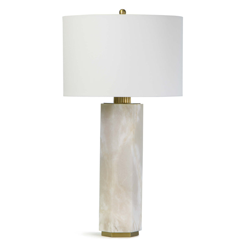 Geo Alabaster Table Lamp