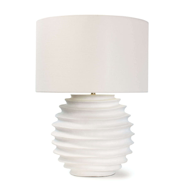 Wavy White Table Lamp