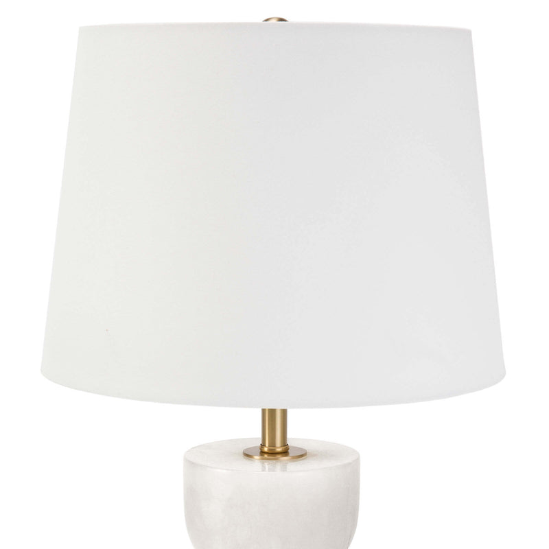 Curvy Alabaster Table Lamp - Small
