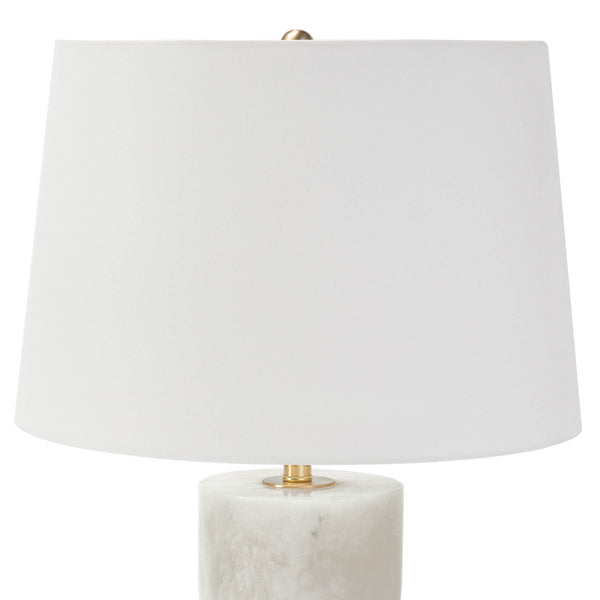 Curvy Alabaster Table Lamp - Large