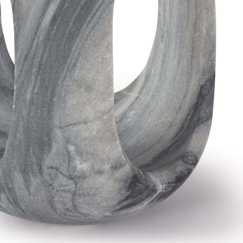 Space Age Black Marble Sculpture - Large