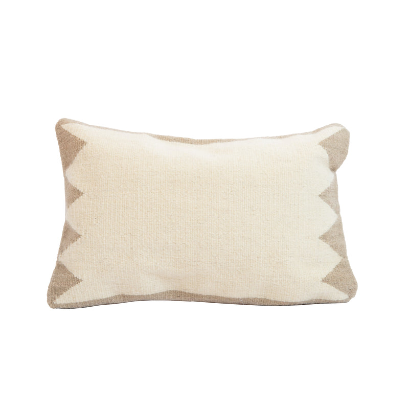 Tan Mixteca Lumbar Wool Pillow