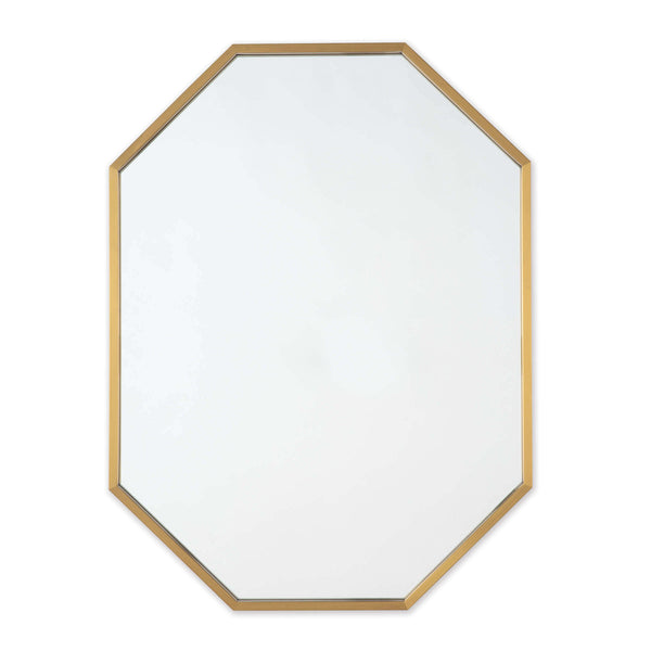 Geo Mirror - Natural Brass