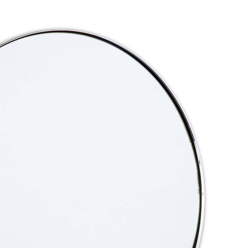 Round Framed Mirror - Nickel