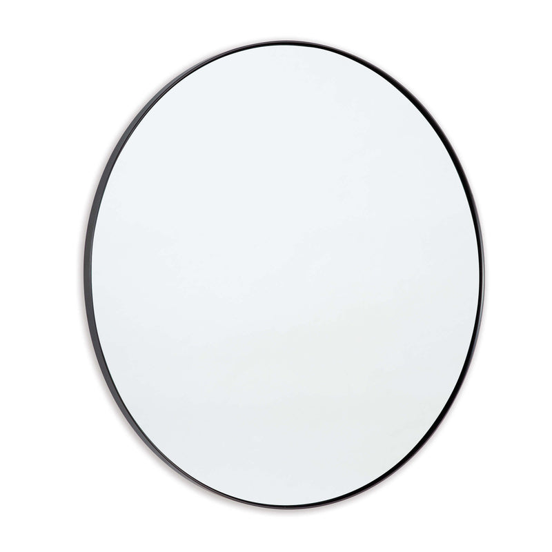 Round Framed Mirror - Steel