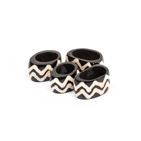 Bone Inlay Napkin Rings