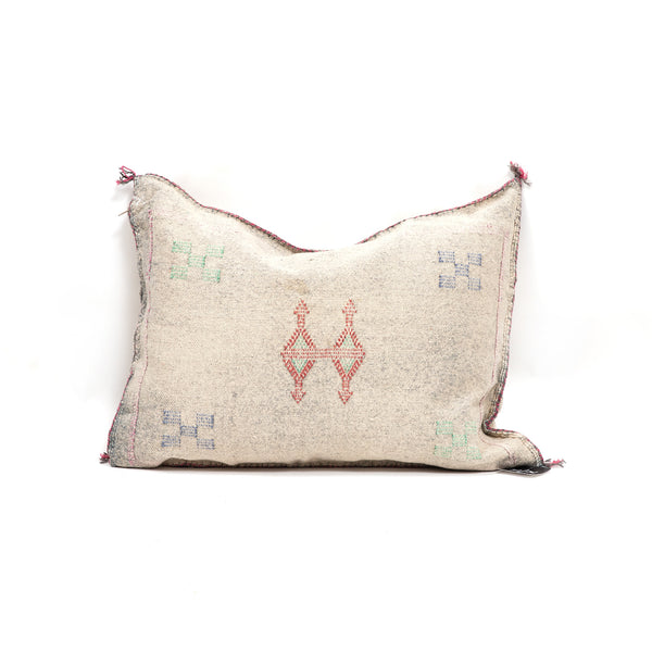 Washed Jean Cactus Silk Lumbar Pillow