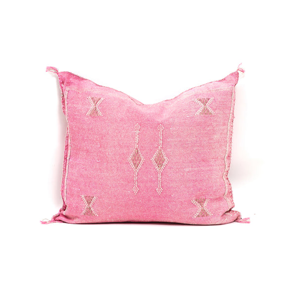 Pink Cactus Silk Square Pillow