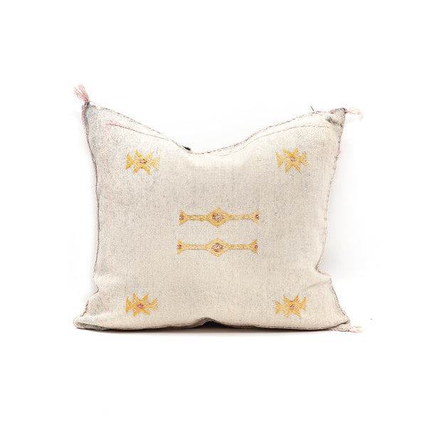 Washed Jean Cactus Silk Square Pillow
