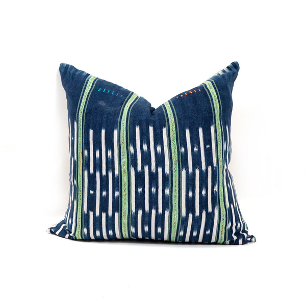 Green Stripe Balu Square Pillow