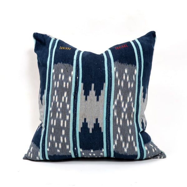 Blue Stripe Balu Square Pillow