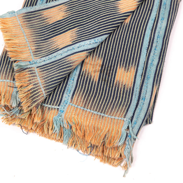 Orange & Carolina Blue Baule Cloth