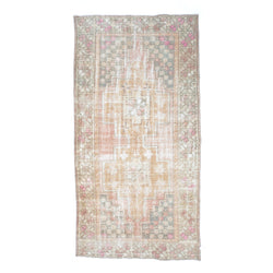 "4'4"" x 8'4"" Hints of Pink Vintage Area Rug"