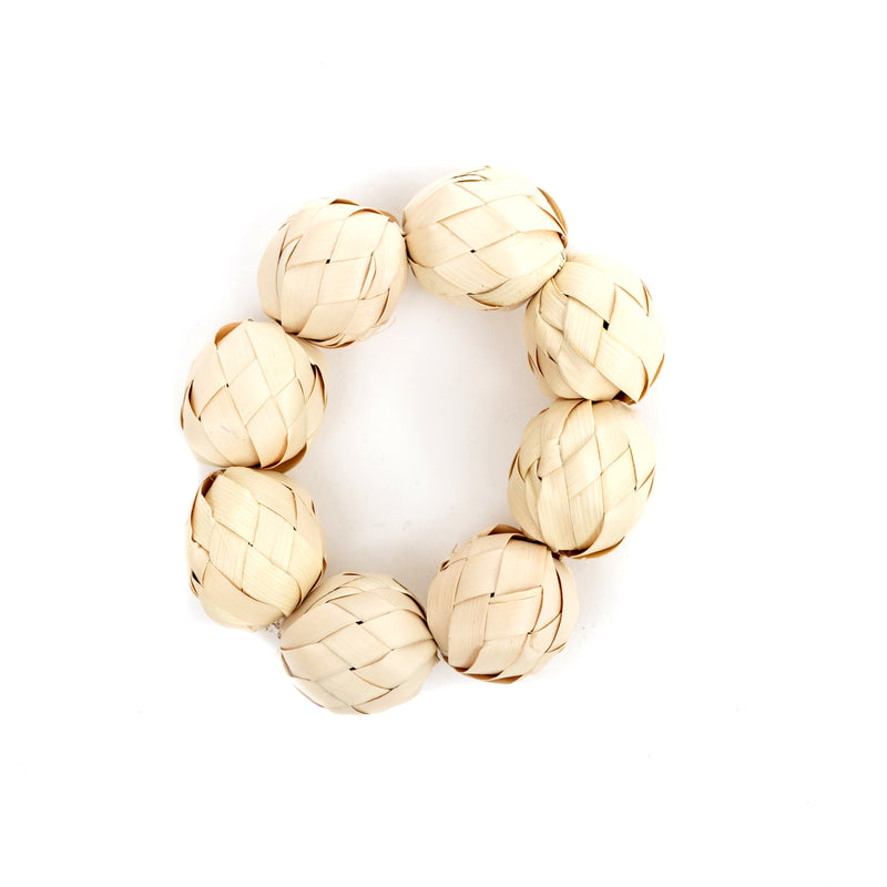 Natural Ball Napkin Rings - Set of 4