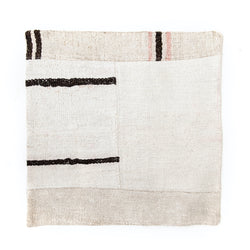 Stripe Patchwork Hemp Euro Pillow