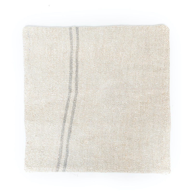 Grey Stripe Hemp Euro Pillow