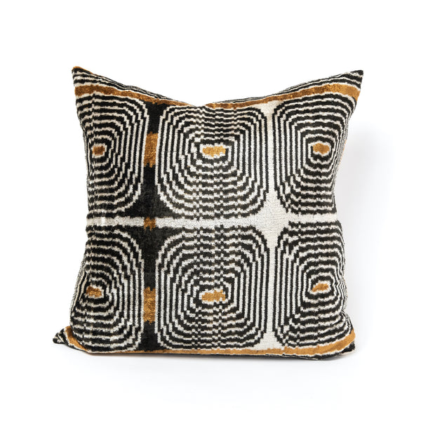 Retro Velvet/Silk Square Pillow