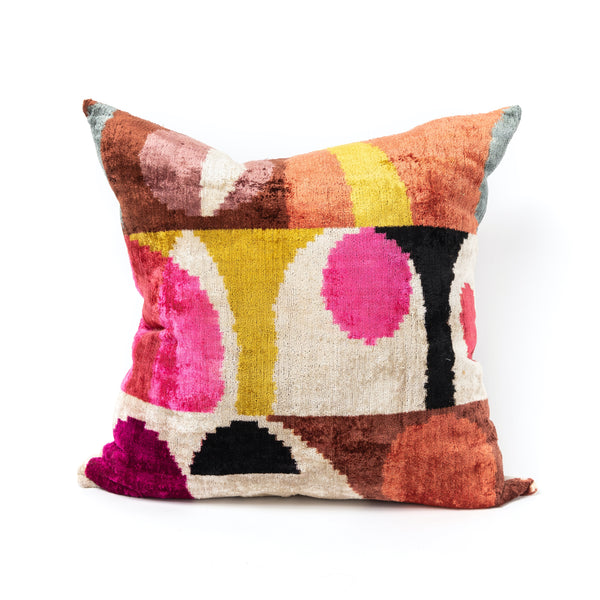 Vibrant Velvet/Silk Euro Pillow