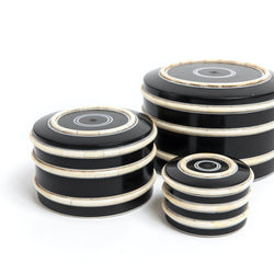 B/W Round Bone Inlay Box