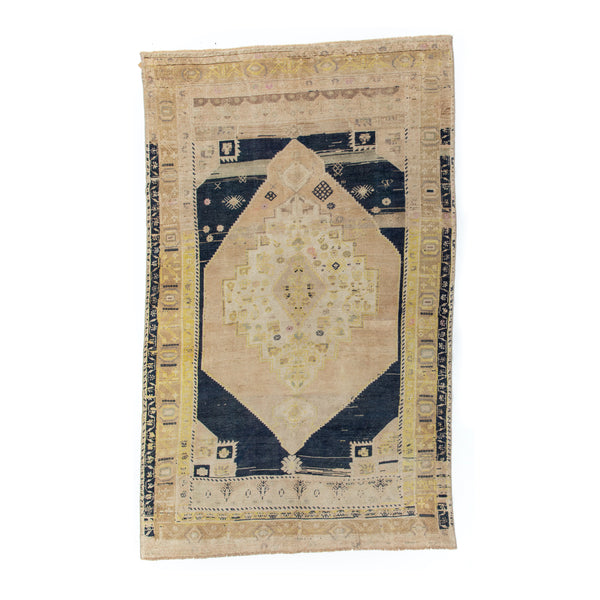 "5'4"" x 8'7.5"" Yellow Moon Vintage Area Rug"